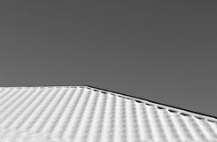 House roof in snow in black and white Stock Photography