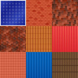 House Roof Tile Set Royalty Free Stock Image