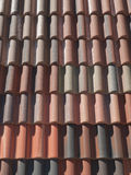 House roof tiles Royalty Free Stock Photos