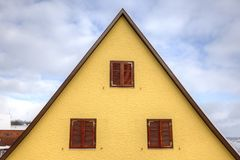 House roof in triangle shape Stock Photography