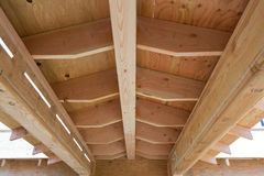 House roof under construction Royalty Free Stock Photo