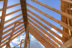 House roof under construction Royalty Free Stock Image