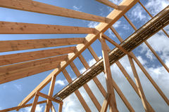 House roof under construction Stock Photo