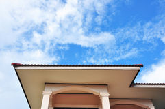 House roof. The upper part of the house in the sky,Thailand stock photos