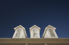 House Roof and Windows Royalty Free Stock Images