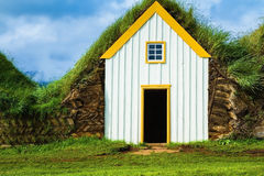 House are roofed by the turf Royalty Free Stock Image