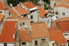 House roofs in Bonifacio, Corsica Royalty Free Stock Images