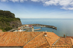 House roofs of Lastres sailor coastal village in Asturias Royalty Free Stock Photography