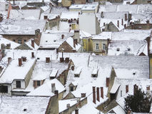 House roofs powdered with snow Stock Photography