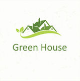 House roofs for real estate business. Green House Royalty Free Stock Photo