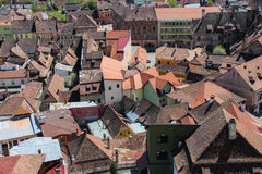 House Rooftops in Sighisoara, Romania Stock Photos