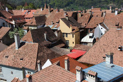 House Rooftops in Sighisoara, Romania Royalty Free Stock Photography