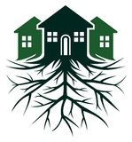 House with root Royalty Free Stock Photo
