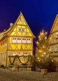 House in Rothenburg ob der Tauber by nigh Stock Images