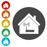 House Router icon, Modem router, icons set. Router icon, Modem router, simple  icons set Royalty Free Stock Photo