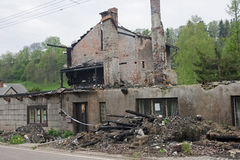 House ruin after fire Royalty Free Stock Photo
