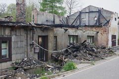 House ruin after fire Royalty Free Stock Photos