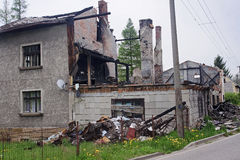 House ruin after fire Stock Images