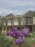 House ruin in the former war zone. Abandoned house in the former war zone in Croatia, which is given to the final decay Royalty Free Stock Images