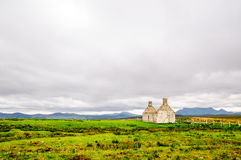 House Ruin in remote landscape of Scotland royalty free stock image
