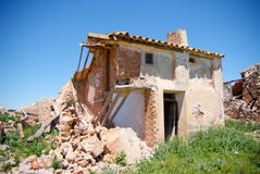 House in ruins Stock Images