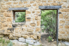 House ruins in mining ghost town of Sego Royalty Free Stock Photography