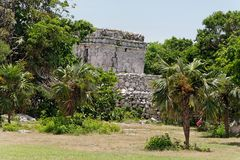 House Ruins in Tulum Yucatan Mexico Royalty Free Stock Photos