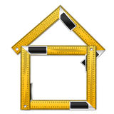 House with Rulers Stock Photo