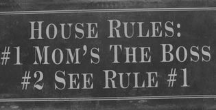 House rules sign Royalty Free Stock Images
