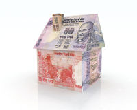 House rupee banknotes. 3d illustration Stock Photos