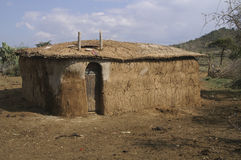 House in rural Kenya, Africa. A house in rural Kenya, Africa. A very basic construction made out of clay and wood, but it is efficient Royalty Free Stock Image