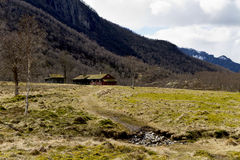 House in rural landscape Royalty Free Stock Image