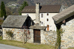 House of the rural village of Palagnedra on Centovalli valley Royalty Free Stock Images