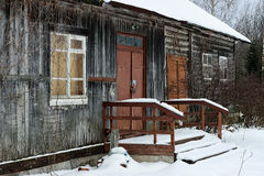 House rural Winter royalty free stock image