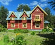 House in Russian Village attractions in Verkhniye Mandrogi Stock Photography