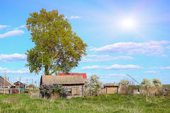 House in the Russian village Stock Images
