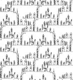 House& x27;s a children& x27;s drawing vector seamless texture Stock Images