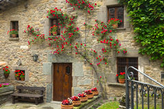 House s in old catalan village.  Rupit i Prui Stock Photos