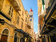 Old town of Corfu Royalty Free Stock Photos