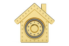 House safe. Combination safe box in shape of home, 3D rendering Royalty Free Stock Image