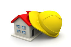 House  with safety helmet Stock Photography