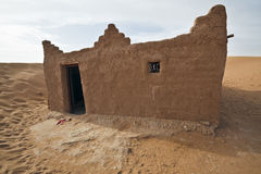 House in Sahara desert. Royalty Free Stock Photography