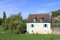 House of Saint-Amand-of-Coly Royalty Free Stock Images