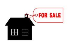 House For Sale. Illustration of house for sale tag Stock Photo