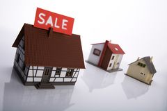 A house for sale. Royalty Free Stock Photo