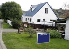 House for sale. Picture taken in New Zealand stock image