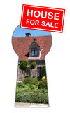 House for sale. Finding a new house on the housing market Royalty Free Stock Images