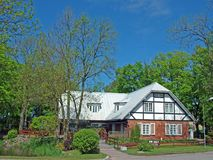 House for sale. Modern style country village house for sale Royalty Free Stock Photography