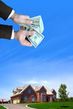 House for sale. New residential construction for sale Royalty Free Stock Image