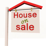 House on sale Royalty Free Stock Photos